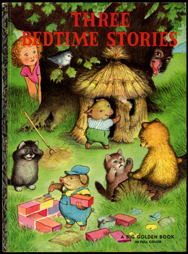 Garth Williams: Three Bedtime Stories 1958 3 Little Kittens Bears Little Pigs