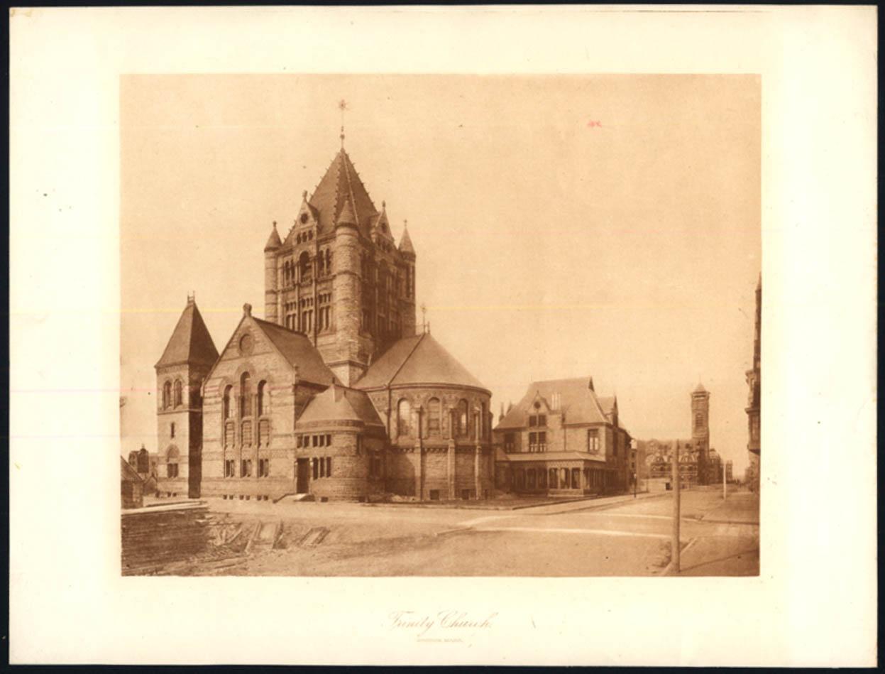 Image for Trinity Church Boston Massachusetts print 1887