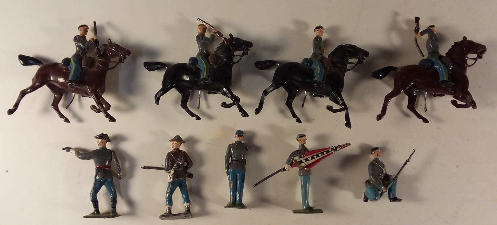 Buckingham Cast Metal Johillco lead soldier set 116 The Confederacy 1950s