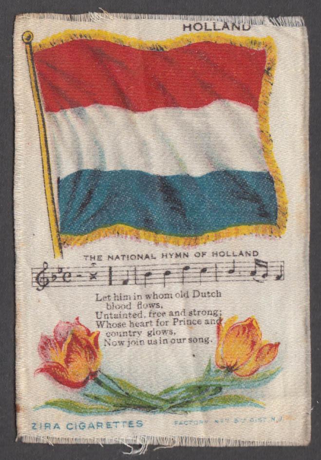 Dutch Flag Holland National Hymn Ziro Cigarettes cigarette silk ca 1910