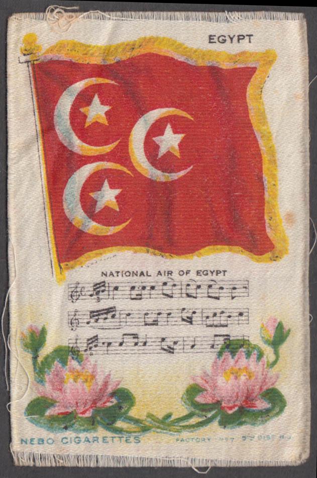 Egypt Flag & National Air Nebo Cigarettes cigarette silk ca 1910