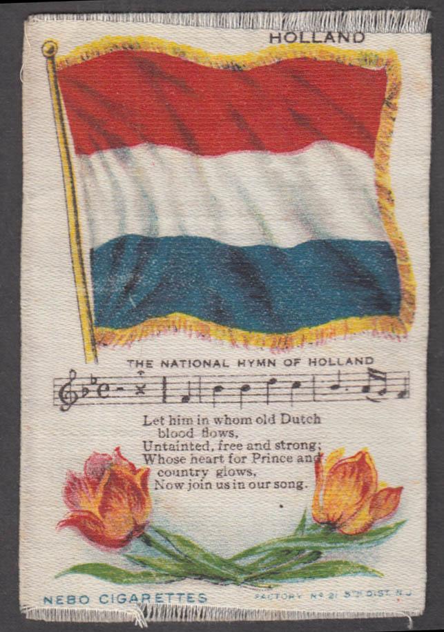 Dutch Flag Holland National Hymn Nebo Cigarettes cigarette silk ca 1910
