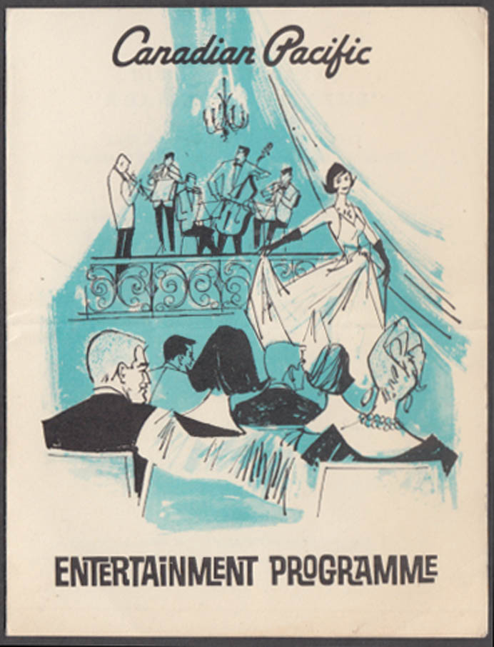 Canadian Pacific S S Empress of Canada Entertainment program 3/24 1968