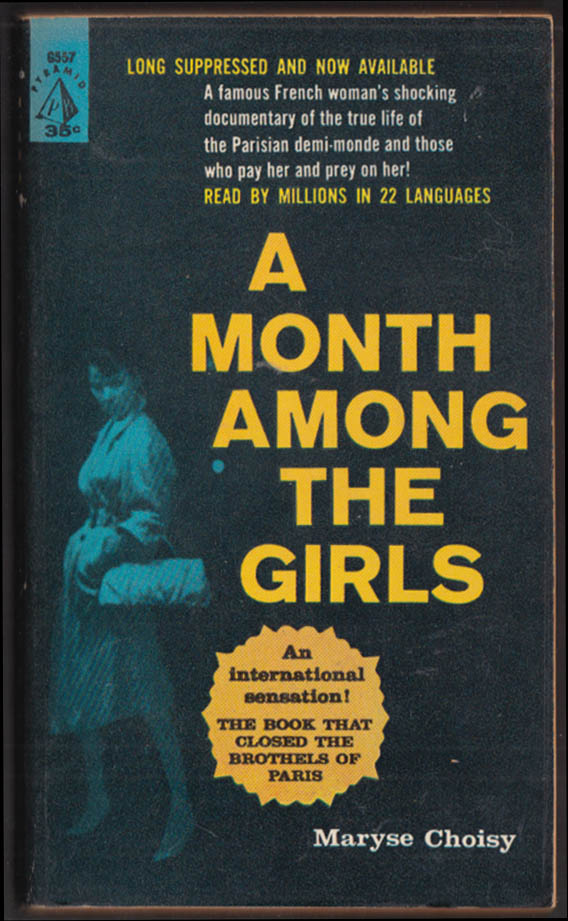 Maryse Choisy: A Month Among the Girls PBO 1st printing 1960 prostitution