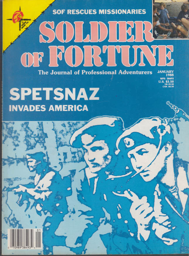 SOLDIER OF FORTUNE 1 1988 Spetsnaz in USA; SOF Rescue; 9th Infantry; Mozambique