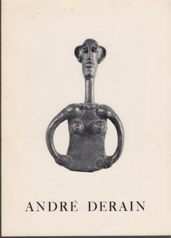 Andre Derain Sculpture Exhibit catalog Leonard Hutton Galleries 1962