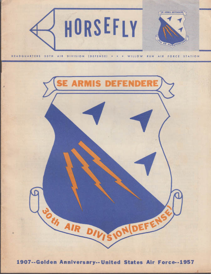 HORSEFLY 4 1957 30th Air Division Willow Run AF Station Belleville MI