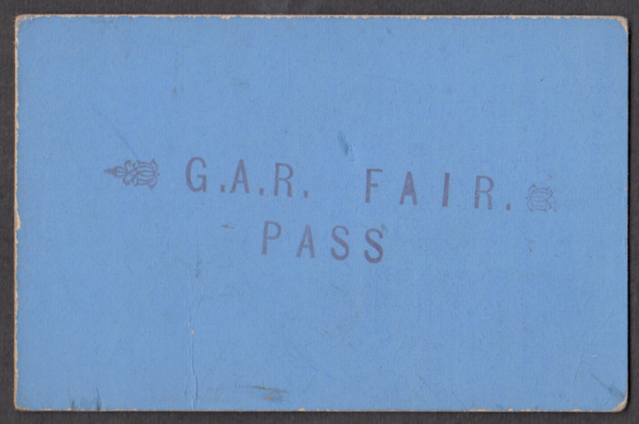 Grand Army of The Republic GAR Fair Pass probably Connecticut about 1920s