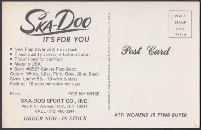 Ska-Doo Ladies Sport Shoes advertising postcard 1960s