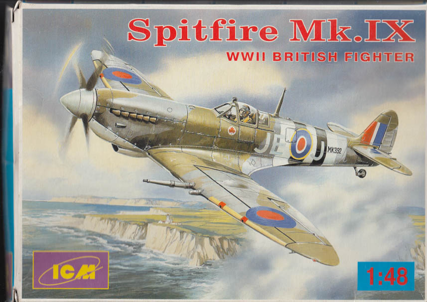 ICM plastic model kit: British Spitfire Mk. IX 1:48 kit undated