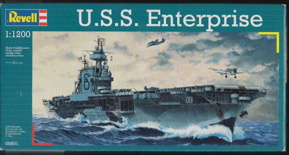 Revell plastic model kit Aircraft Carrier USS Enterprise 1:1200 kit 2004