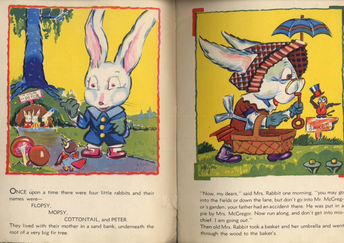 Beatrix Potter: Peter Rabbit linen-like storybook Jo Musial 1936
