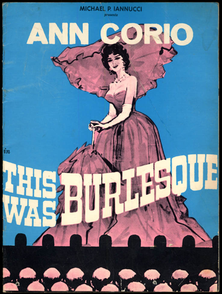 Ann Corio: This Was Burlesque souvenir program 1960s