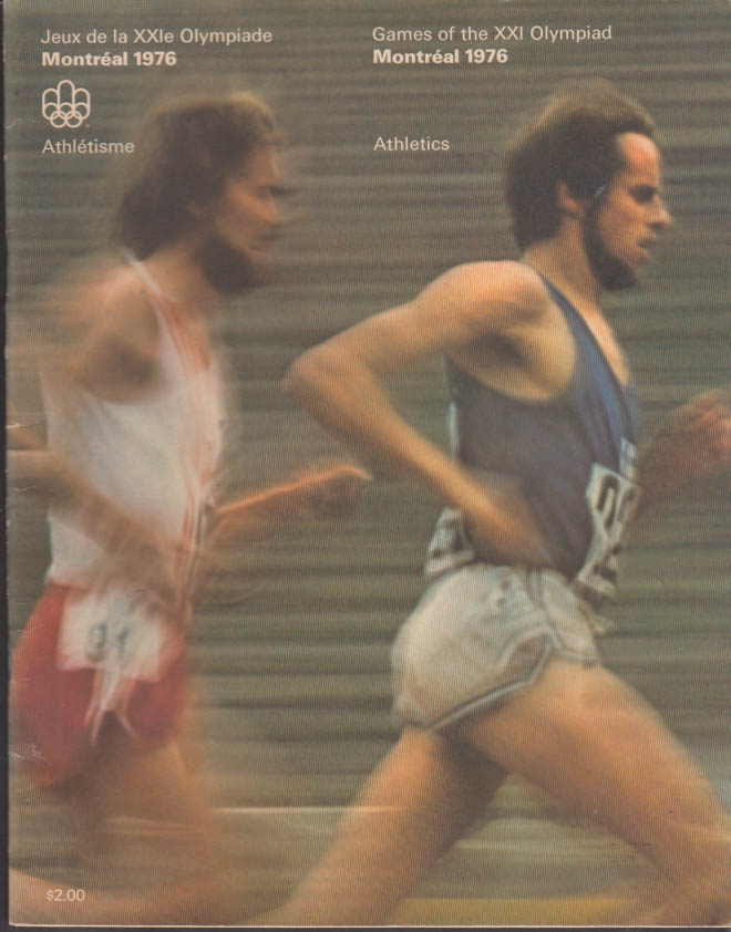 Montreal Olympics Track & Field Official Program 1976 w/ two tickets