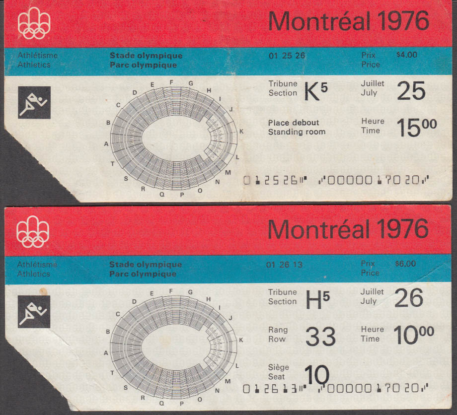 Image for Montreal Olympics Track & Field Official Program 1976 w/ two tickets