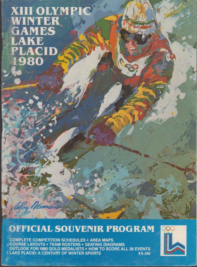 Lake Placid Olympics Winter Games 1980 Official Souvenir Program