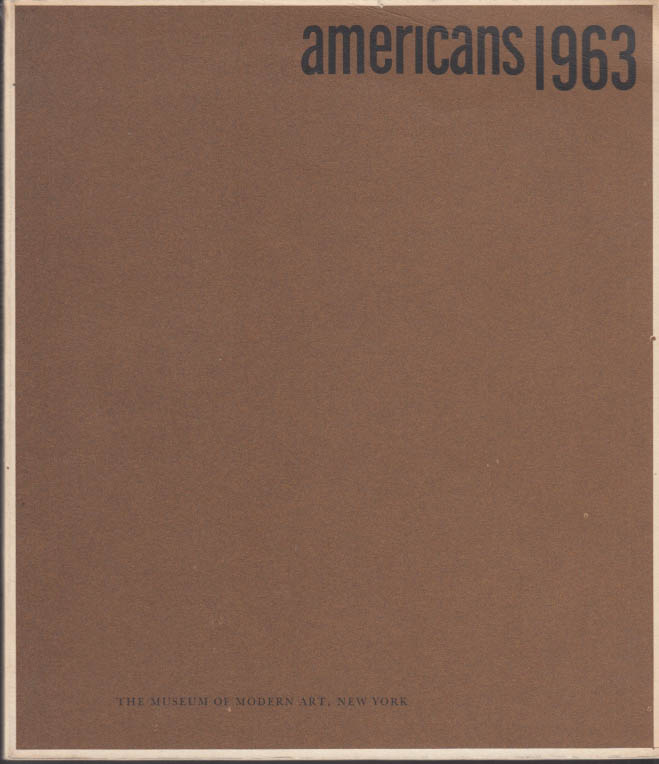 Image for Americans 1963 MOMA Exhibit Catalog Oldenburg Robert Indiana Marisol +