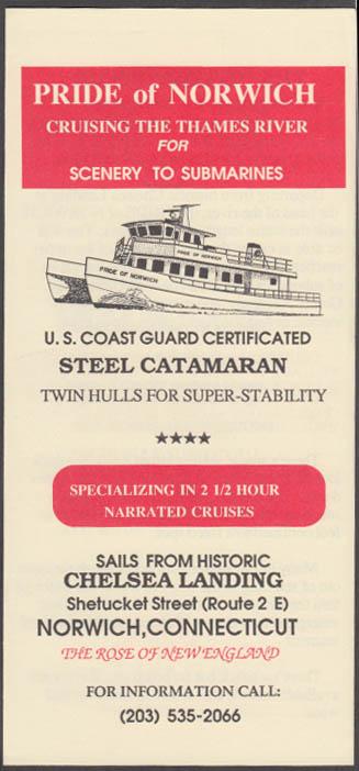 Catamaran Pride of Norwich Thames River Cruises folder CT ca 1980s