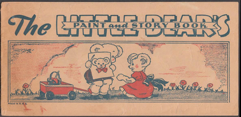 The Little Bears Paint & Story Book newsprint booklet ca 1940s