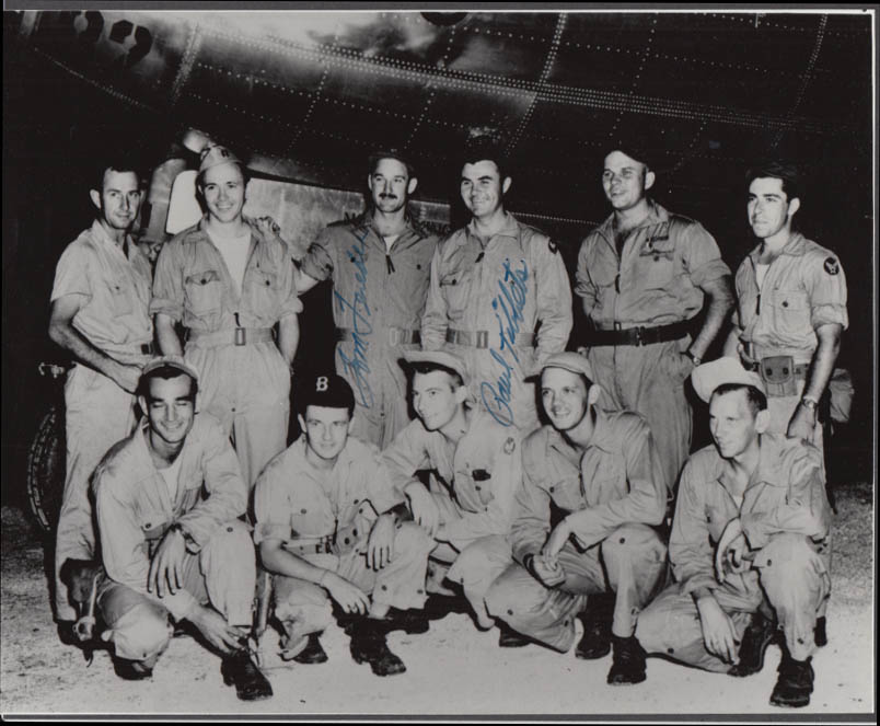 Image for Enola Gay B-29 Hiroshima A-Bomb crew 8x10 SIGNED by Paul Tibbetts & Tom Ferebee