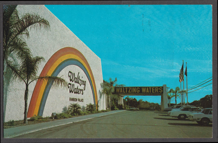 World Famous Waltzing Waters Rainbow Palace Ft Myers FL postcard 1960s