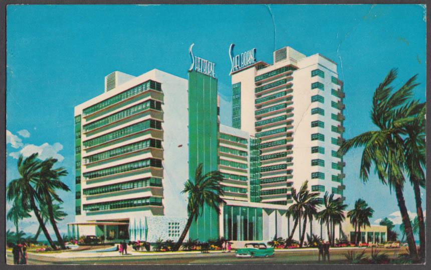 The Shelborne Hotel 18th & the Ocean Miami Beach FL postcard 1985