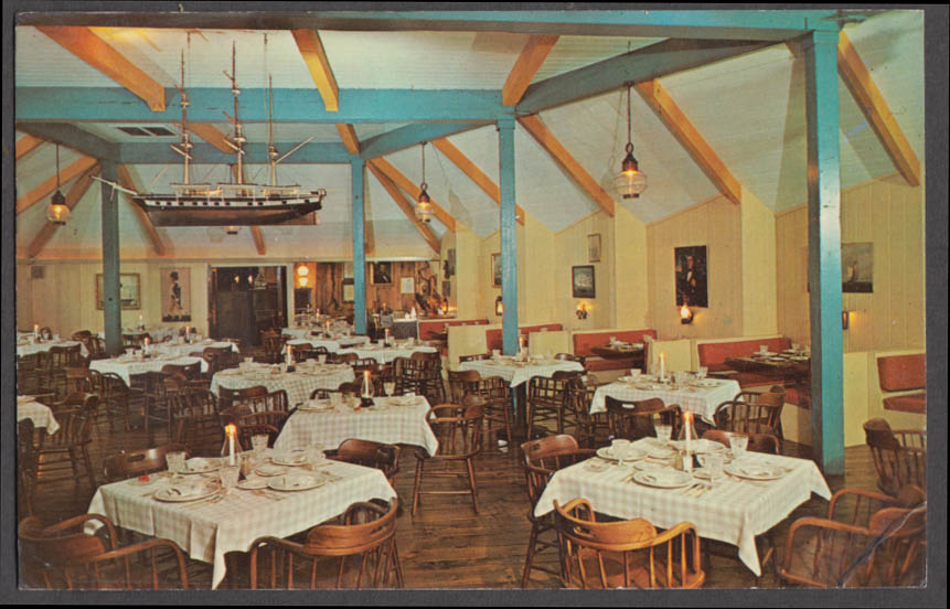 Christopher Ryder House dining room Chathamport MA postcard 1961