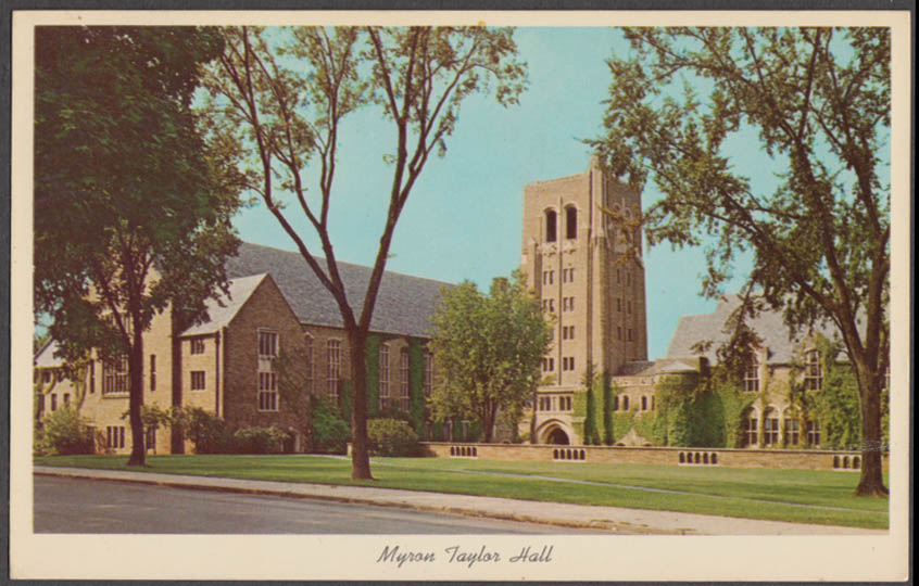 Myron Taylor Hall Cornell University Law School Ithaca NY postcard 1968