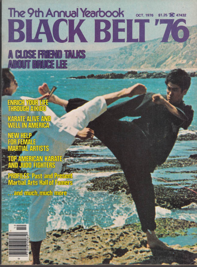 BLACK BELT YEARBOOK 10 1976 Bruce Lee; females in martial arts; aikido HOF +