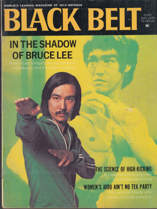 BLACK BELT 8 1974 Robert & Bruce Lee; women's judo Everett Eddy David Page