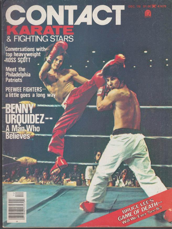 CONTACT KARATE & FIGHTING STARS 12 1976 Bruce Lee Benny Urquidez Ross Scott