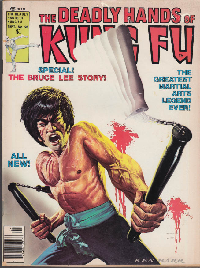 DEADLY HANDS OF KUNG FU #28 9 1976 Bruce Lee Shinmen Musashi Pat Johnson