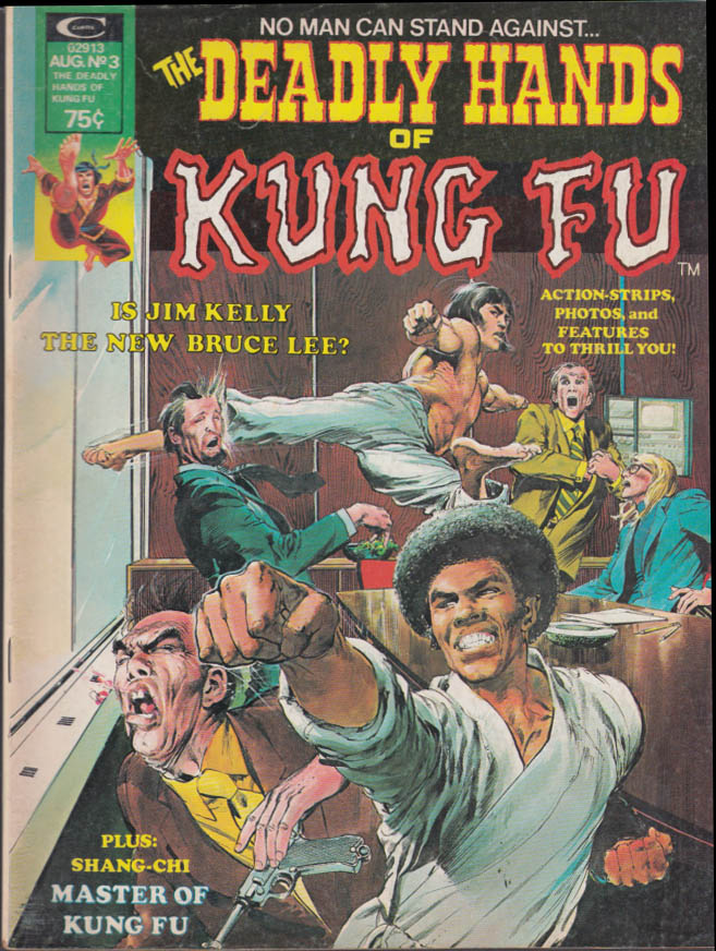 DEADLY HANDS OF KUNG FU #3 8 1974 Bruce Lee Jim Kelly Angela Mao Judo Sifu