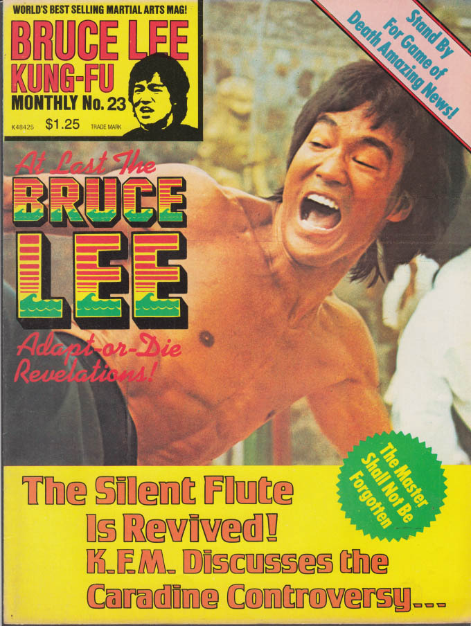 BRUCE LEE KUNG-FU MONTHLY #23 Bruce Lee David Carradine +