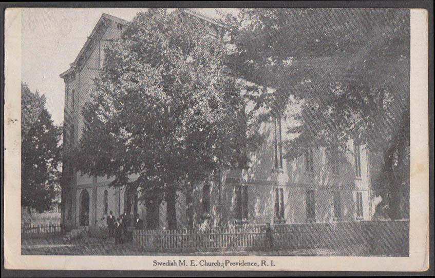 Image for Swedish M E Church at Providence RI postcard 1920