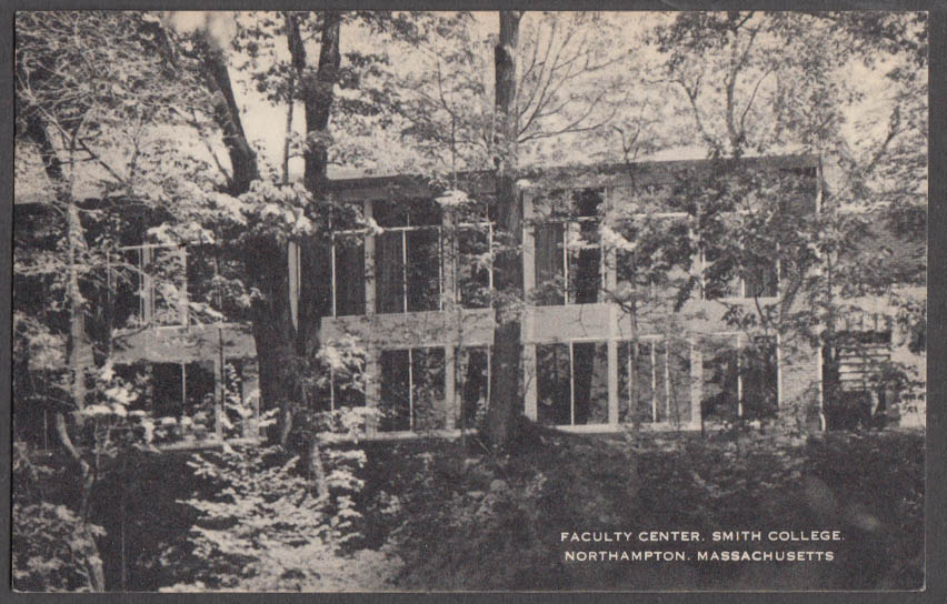 Image for Faculty Center Smith College in Northampton MA postcard 1961