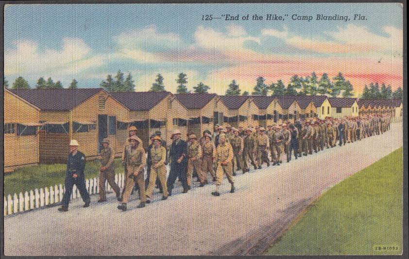 Image for End of the Hike Camp Blanding FL postcard ca 1930s