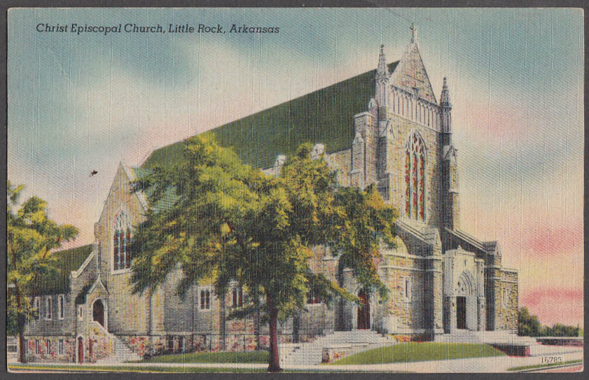 Image for Christ Episcopal Church at Little Rock AR postcard 1930s