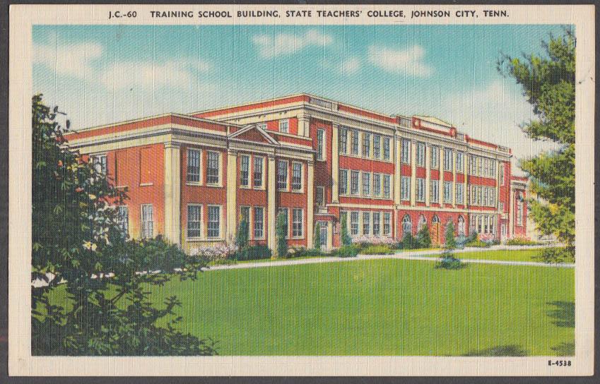Image for State Teachers College Training School Building Johnson City TN postcard 1940s