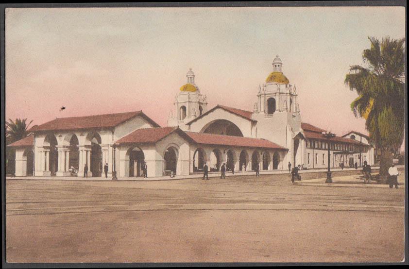Image for Santa Fe Railroad Station at San Diego CA postcard ca 1910