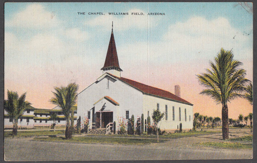 Image for The Chapel at Williams Field AZ postcard 1945