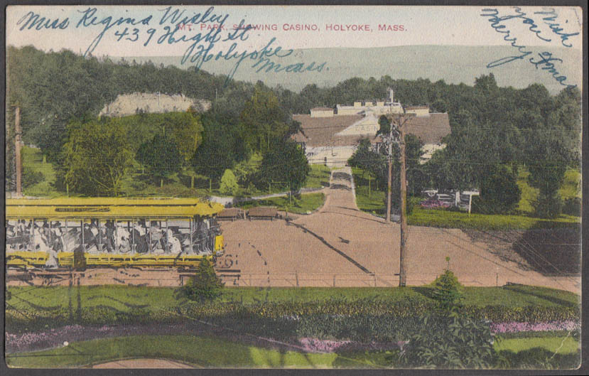 Image for Mountain Park & the Casino at Holyoke MA postcard 1909