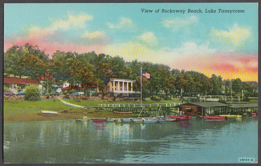 Image for View of Rockaway Beach Lake Taneycomo MO postcard 1930s