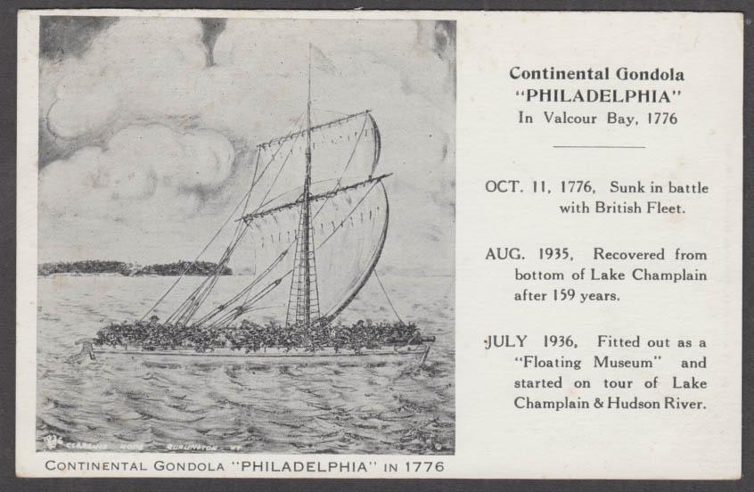 Image for Continental Gondola Philadelphia Floating Museum New York postcard 1936