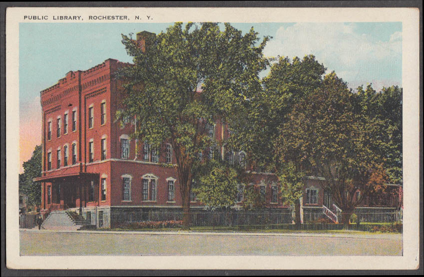 Image for The Public Library at Rochester NY postcard ca 1915