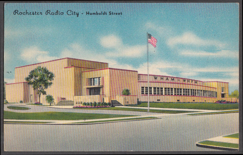 Image for WHAM WHFM Rochester Radio City Humboldt St Rochester NY postcard 1948