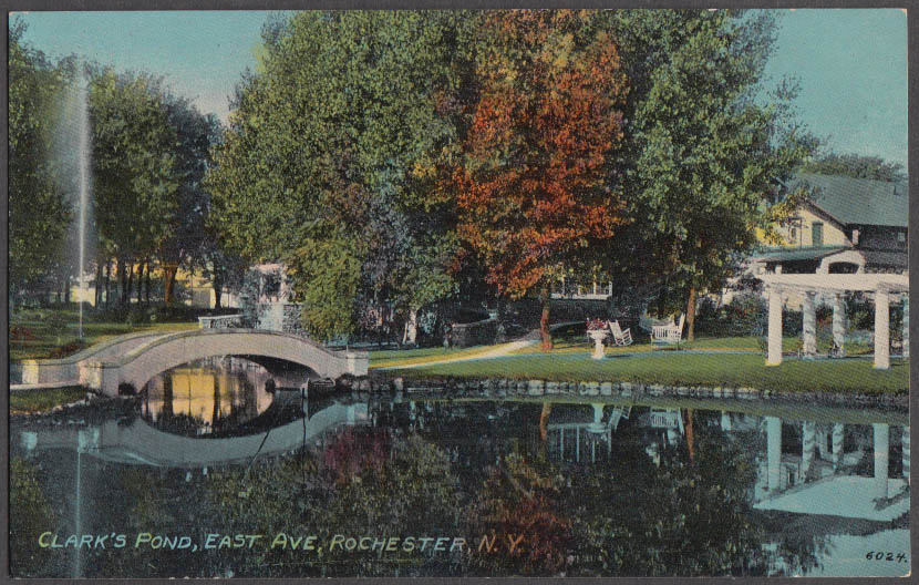 Image for Clark's Pond on East Avenue in Rochester NY postcard ca 1910