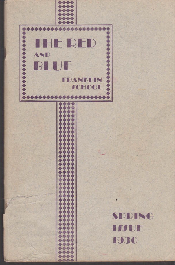 Image for Franklin School New York THE RED AND BLUE Spring 1930 Mona Lisa; postage stamps