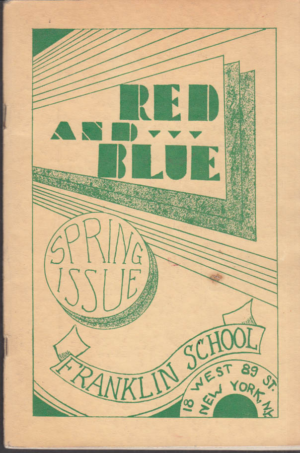Image for Franklin School New York THE RED AND BLUE Spring 1932 George Eliot +