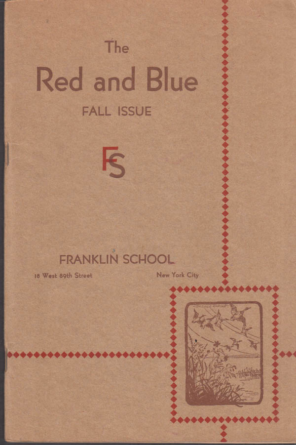 Image for Franklin School New York THE RED AND BLUE Fall 1931 Radio, Nevada, flags +